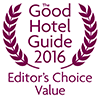 Good Hotel Guide Editor's Choice Award Logo - Best Value Hotels hotels